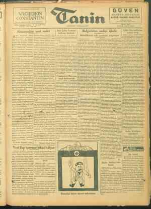 Tanin Gazetesi 9 Ekim 1943 kapağı