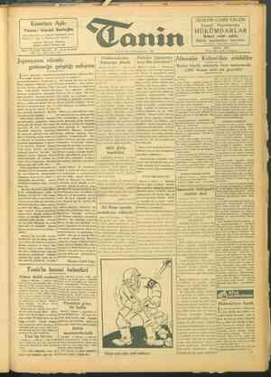 Tanin Gazetesi 10 Ekim 1943 kapağı