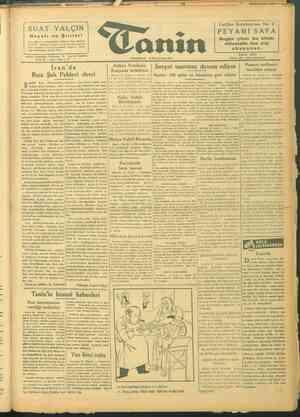 Tanin Gazetesi 11 Ekim 1943 kapağı