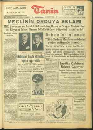 "e İİ LLM LL — İĞ YENİ «OMANIMIZ KAYBOLAN HEYKEL ""Ganin Adres: Cağaloğlu, 'Türbedar So. No. 18 İSTANBUL, Telefon 22477 n ©..."