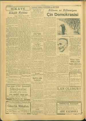 SAYFADA. 31 EEEKİM 1945 İÜ HİKAYE 1 Tamara İDOBUDM ve BATIDAN HİKAYE | mi Bilinen ve Bilinmiyen Demokrasisi Küçük Rehine...