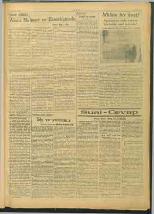 gg 5 OCAK 1946 i z aa yar -AYFAS TARİH İÇİNDEN : seri   Mü   k Alaca Mehmet ve L m izade Mi yi ae bir eşif z İ Böl...