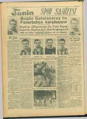 """YA TANİN 13 OCAK 1946 anin 5702 SAMİISI Galatasaraydan Arif Boks maçları —— - Yunan boks aları- Böylece """"müsabakada..."""