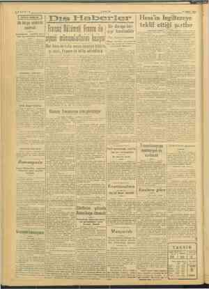 SAYFA: 2 ei 7 8 ŞUBAT 1946 1946 rez > Dış ilaberler | Hess'in İngiltereye an 1 teklif ettiği şerti Fransız Hükümeli Franco
