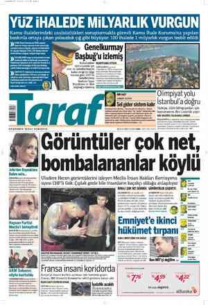 Taraf Gazetesi 16 Şubat 2012 kapağı