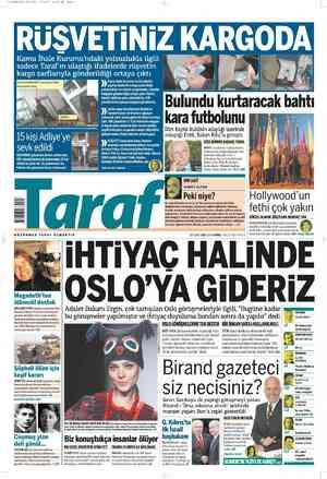Taraf Gazetesi 17 Şubat 2012 kapağı