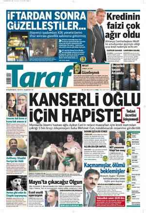 Taraf Gazetesi 18 Şubat 2012 kapağı