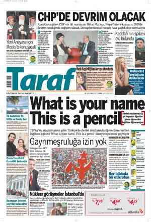 Taraf Gazetesi 20 Şubat 2012 kapağı