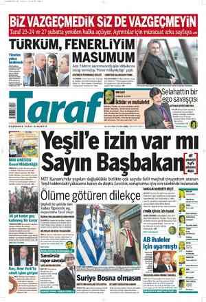 Taraf Gazetesi 22 Şubat 2012 kapağı