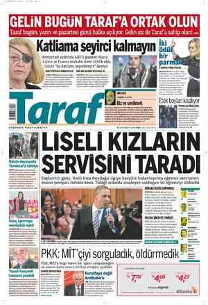 Taraf Gazetesi 23 Şubat 2012 kapağı
