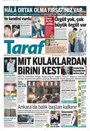 Taraf Gazetesi 24 Şubat 2012 kapağı