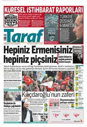 Taraf Gazetesi 27 Şubat 2012 kapağı
