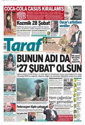 Taraf Gazetesi 28 Şubat 2012 kapağı