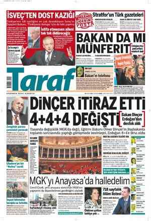 Taraf Gazetesi 29 Şubat 2012 kapağı