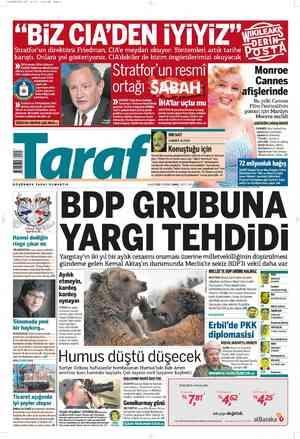 Taraf Gazetesi 1 Mart 2012 kapağı