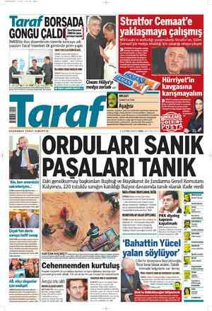 Taraf Gazetesi 3 Mart 2012 kapağı
