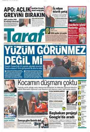 Taraf Gazetesi 4 Mart 2012 kapağı