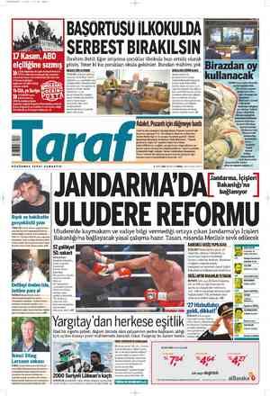 Taraf Gazetesi 5 Mart 2012 kapağı