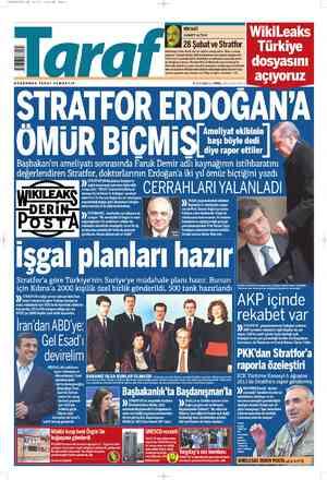 Taraf Gazetesi 6 Mart 2012 kapağı