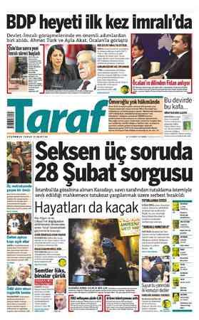 BDP heyeti ilk kez imralı'da Devlet-İmralı görüşmelerinde en önemli adımlardan biri atıldı. Ahmet Türk ve Ayla Akat,...