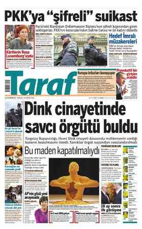 """PKK'ya """"şifreli"""" suikast DİYARBAKIR CEZAEVİ CEHENNEMİNİ YAŞADI. BİNAYA ancak şifreli sistemle SAKİNE Cansız'ın öldürülmesine"""