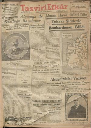 Tasviri Efkar Gazetesi 2 Mayıs 1940 kapağı