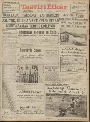 Tasviri Efkar Gazetesi 6 Mayıs 1940 kapağı