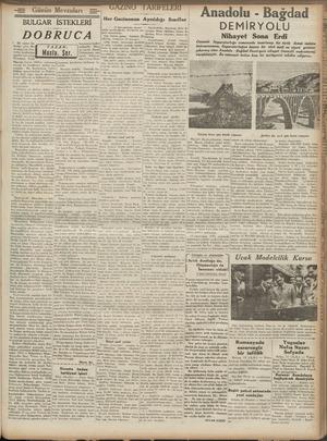 BULGAR Bir ajans ha- Tine göre Be-i sarabya'nin Sov. Majeste Carol, Hitlere müracı ederek bir konferans akdi etmiştir. Bu