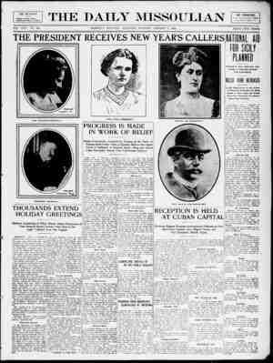The Daily Missoulian Gazetesi 2 Ocak 1909 kapağı