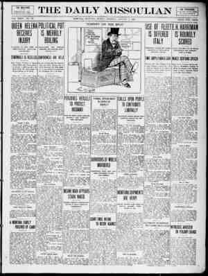 The Daily Missoulian Gazetesi 3 Ocak 1909 kapağı