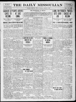 The Daily Missoulian Gazetesi 4 Ocak 1909 kapağı
