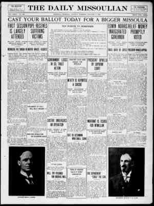 The Daily Missoulian Gazetesi 5 Ocak 1909 kapağı