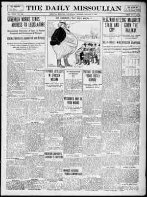 The Daily Missoulian Gazetesi 6 Ocak 1909 kapağı