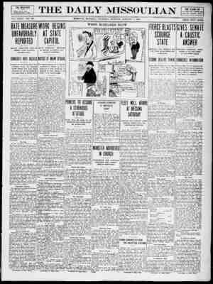 The Daily Missoulian Gazetesi 7 Ocak 1909 kapağı