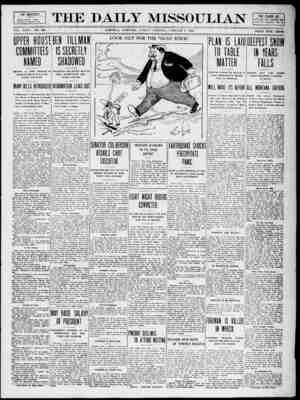 The Daily Missoulian Gazetesi 8 Ocak 1909 kapağı