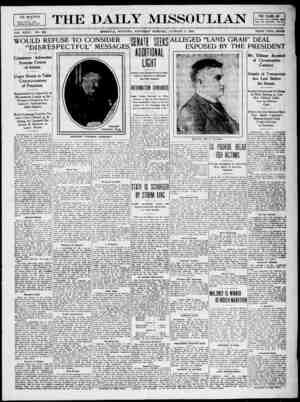 The Daily Missoulian Gazetesi 9 Ocak 1909 kapağı