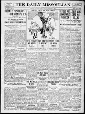The Daily Missoulian Gazetesi 10 Ocak 1909 kapağı