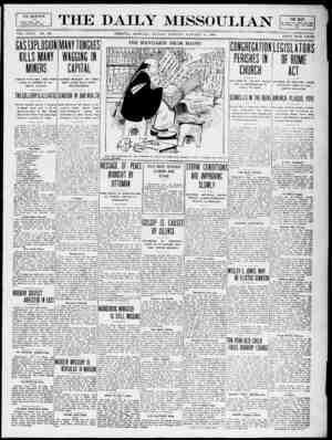 The Daily Missoulian Gazetesi 11 Ocak 1909 kapağı
