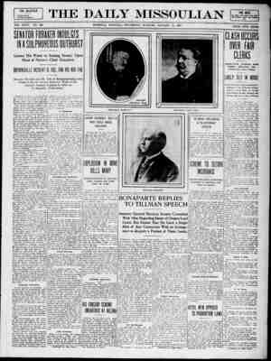 The Daily Missoulian Gazetesi 13 Ocak 1909 kapağı