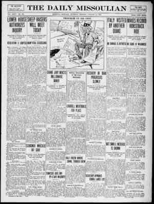 The Daily Missoulian Gazetesi 14 Ocak 1909 kapağı