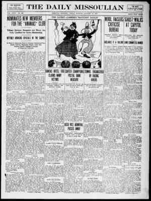 The Daily Missoulian Gazetesi 15 Ocak 1909 kapağı