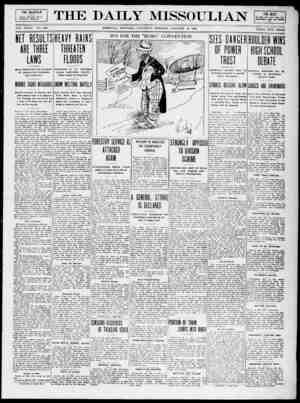 The Daily Missoulian Gazetesi 16 Ocak 1909 kapağı