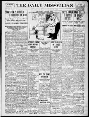 The Daily Missoulian Gazetesi 17 Ocak 1909 kapağı