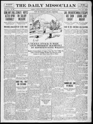 The Daily Missoulian Gazetesi 19 Ocak 1909 kapağı