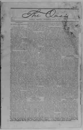 The Oasis Gazetesi 18 Mayıs 1893 kapağı