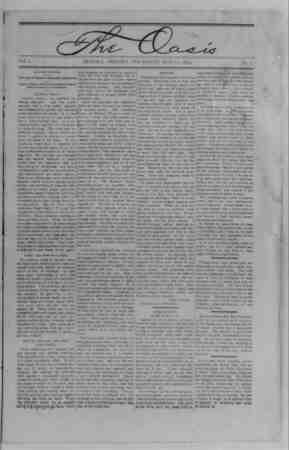 The Oasis Gazetesi 25 Mayıs 1893 kapağı