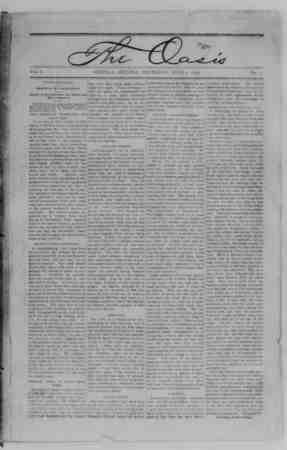 The Oasis Gazetesi 1 Haziran 1893 kapağı