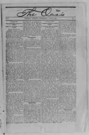 The Oasis Gazetesi 8 Haziran 1893 kapağı