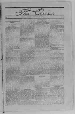 The Oasis Gazetesi 15 Haziran 1893 kapağı