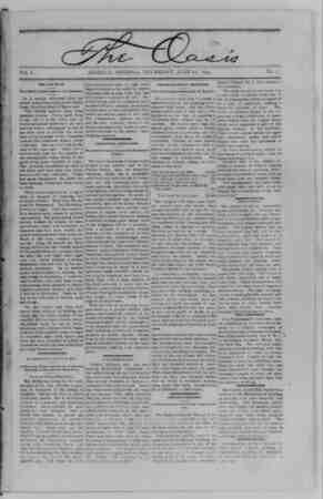 The Oasis Gazetesi 22 Haziran 1893 kapağı